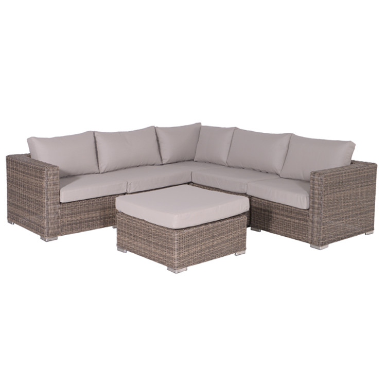 garden impressions robinia lounge set 6 delig wicker licht bruin. Black Bedroom Furniture Sets. Home Design Ideas